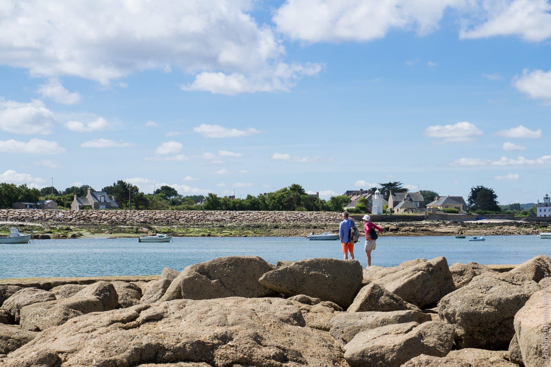 Promeneurs du bord de mer Normand