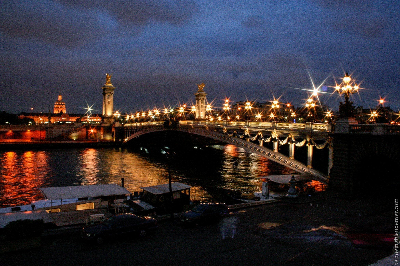 Pont Alexandre III la nuit