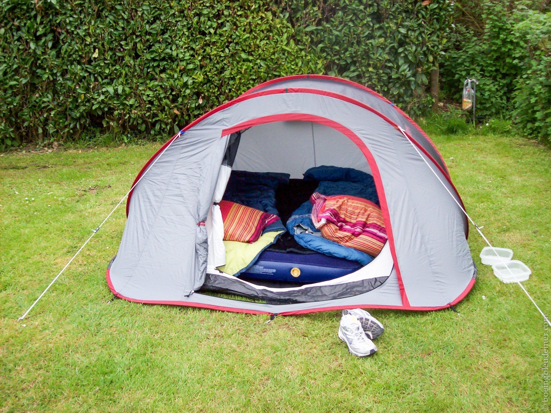 Un week-end en camping à Honfleur: notre tente 2seconds