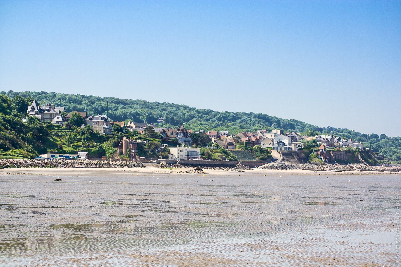 Un week-end ensoleillé à Villerville en Normandie : marée basse