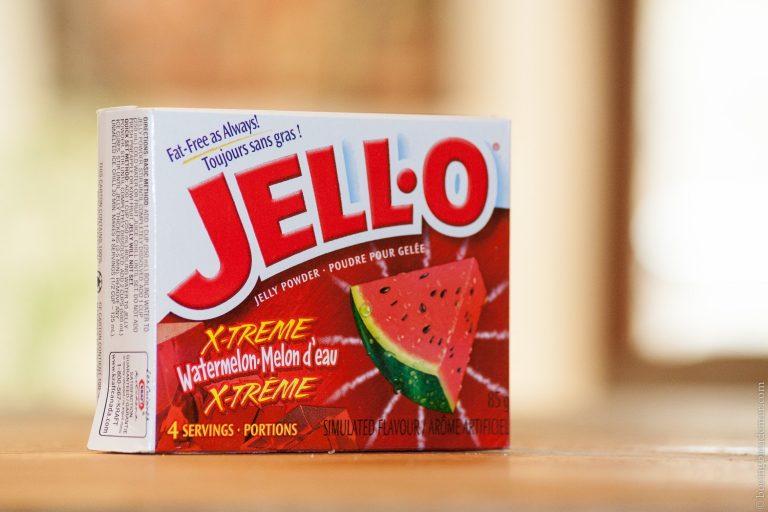 Jell-O, un dessert facile : emballage