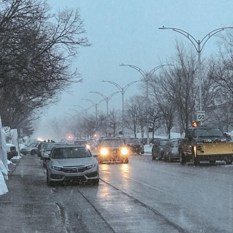 Neige de mars à Montréal