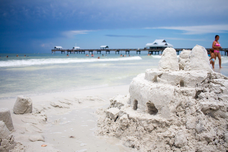 Château de sable à Clearwater