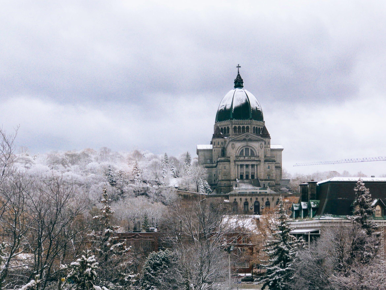L'Oratoire St-Joseph sous la neige